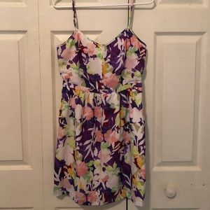 Jcrew flower dress with pockets. Size 10.